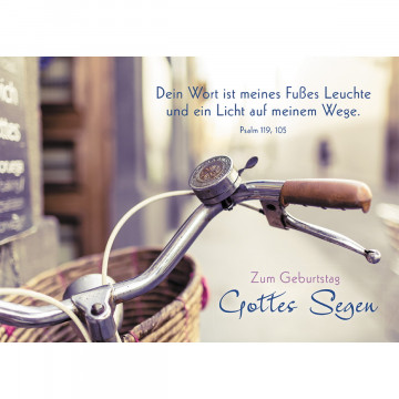 Postkarte Zum Geburtstag Gottes Segen (10 Stück)