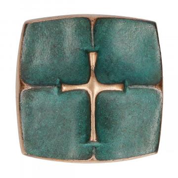 Kreuzplakette mit Kreuz