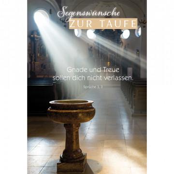 Glückwunschkarte Segenswünsche zur Taufe (6 Stück)
