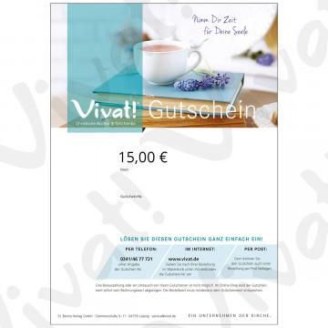 Geschenk-Gutschein im Wert von 15 Euro