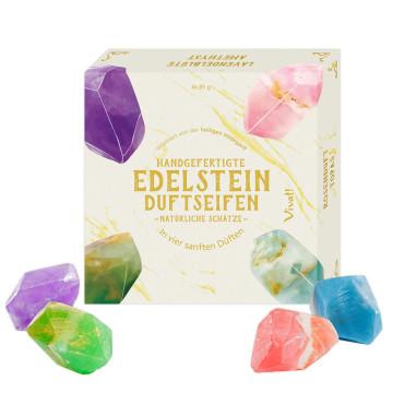 4er-Set Edelstein-Duftseifen »Natürliche Schätze«
