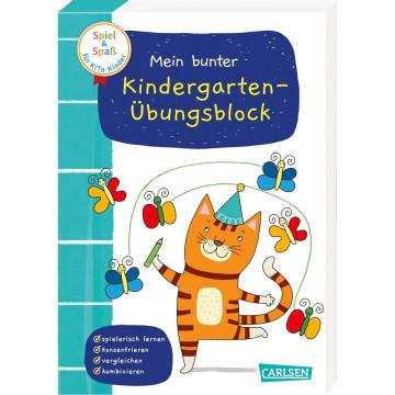 Spiel+Spaß für KiTa-Kinder: Mein bunter Kindergarten-Übungsblock