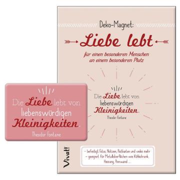 Deko-Magnet »Liebe lebt«