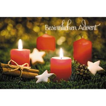 Glückwunschkarte Besinnlichen Advent (6 Stück)
