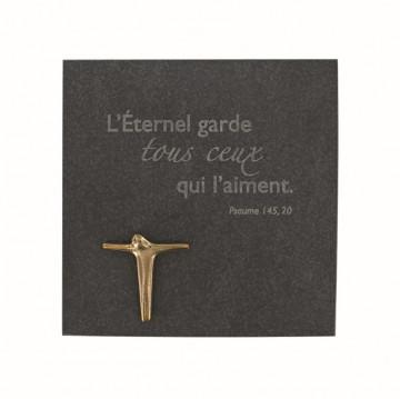 """Schiefertafel """"L'Eternel garde ..."""" (1 Stück)"""