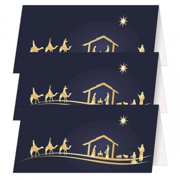 3er-Set Klappkarten» Gesegnete Weihnachten«