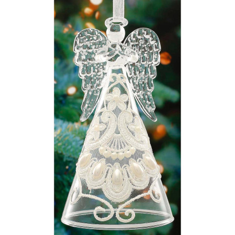 Christbaumschmuck Weihnachtsengel aus Glas