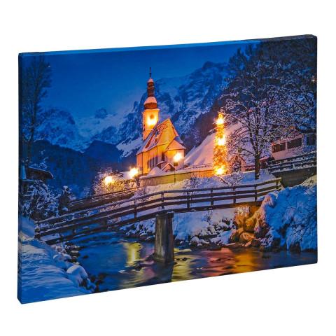 LED Bild Gesegnete Weihnachten
