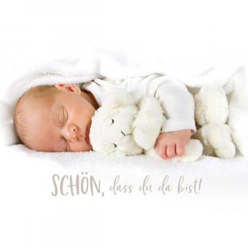 Glückwunschkarte zur Geburt Schön, dass du da bist! (6 Stück)