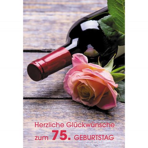 Glückwunschkarte Herzliche Glückwünsche zum 75. Geburtstag (6 Stück)