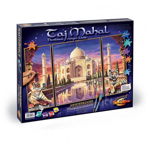 Schipper Malen nach Zahlen -Taj Mahal Denkmal der Liebe (Triptychon)