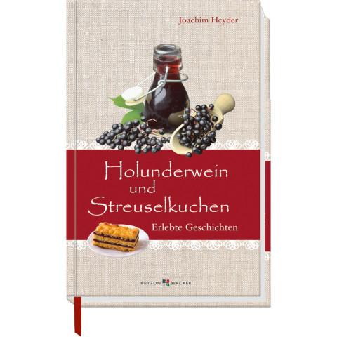 Holunderwein und Streuselkuchen (1 Stück)