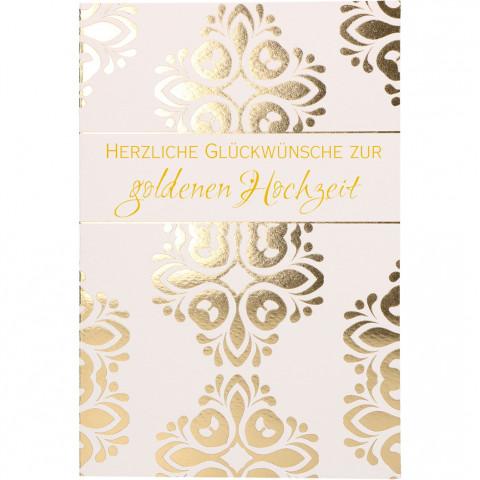 Glückwunschkarte Herzliche Glückwünsche zur goldenen Hochzeit (6 Stück)