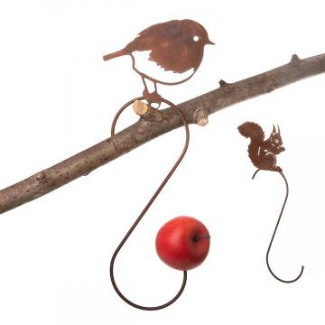2er Set Meisenknödelhalter Eichhörnchen und Vogel