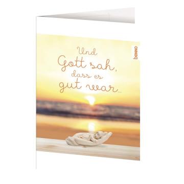 Geburtskarte Und Gott sah dass es gut war
