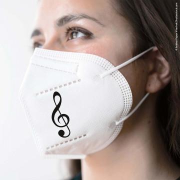 FFP2-Maske »Violinschlüssel«