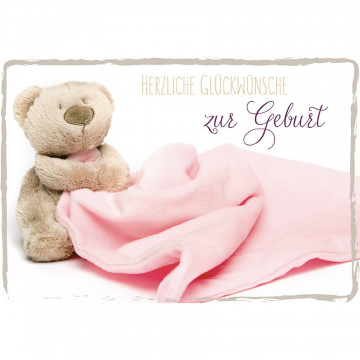 Glückwunschkarte Herzliche Glückwünsche zur Geburt (6 Stück)