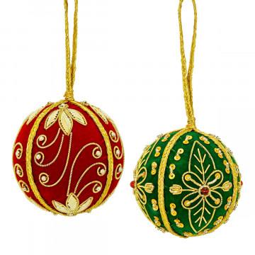 2er-Set Christbaumkugeln »Ornament«