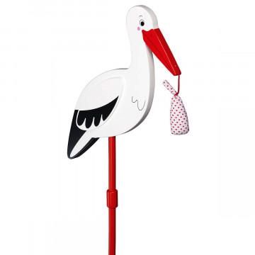 Blumenstecker »Storch mit Babytuch«