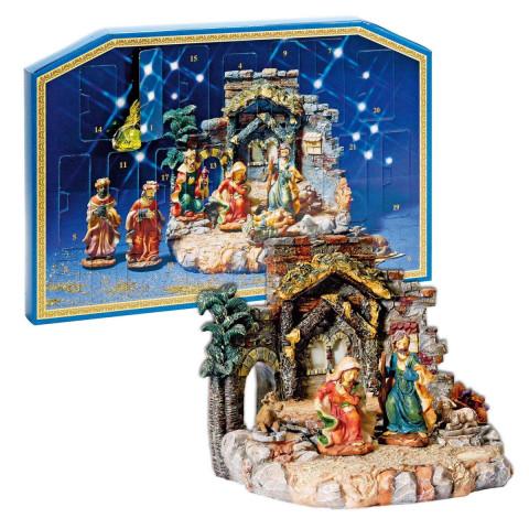 Set: Krippen-Adventskalender mit Krippe