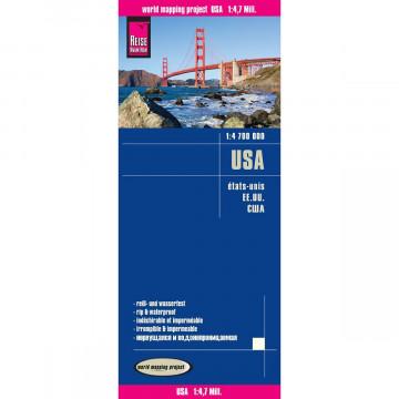 Reise Know-How Landkarte USA 1 : 4.700.000