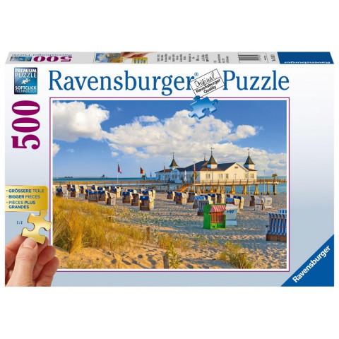 Strandkörbe in Ahlbeck. Puzzle 500 Teile