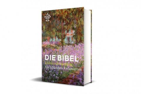Die Bibel mit Umschlagmotiv Irisbeet und Redensarten