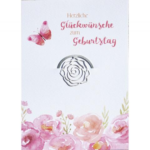 Glückwunschkarte - Herzliche Glückwünsche zum Geburtstag (6 Stück)