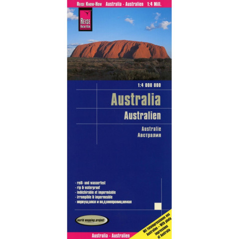 Reise Know-How Landkarte Australien / Australia (1:4.000.000)