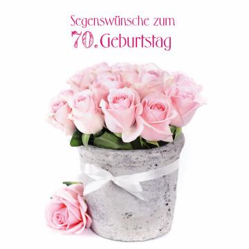 Glückwunschkarte Segenswünsche zum 70. Geburtstag (6 Stück)