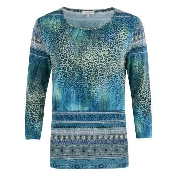 Shirt »Leo-Print«