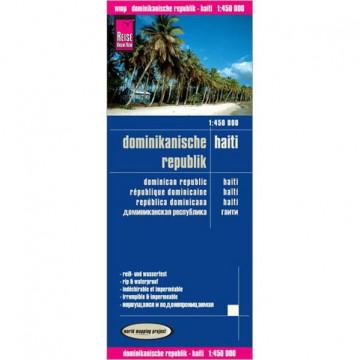Reise Know-How Landkarte Dominikanische Republik, Haiti 1 : 450.000