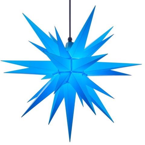 Herrnhuter Stern in blau