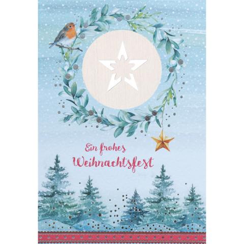 Glückwunschkarte - Ein frohes Weihnachtsfest (5 Stück)