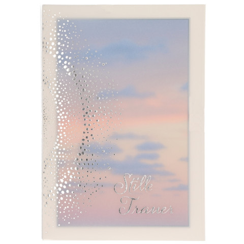 Trauerkarte mit Transparentumleger Stille Trauer (6 Stück)