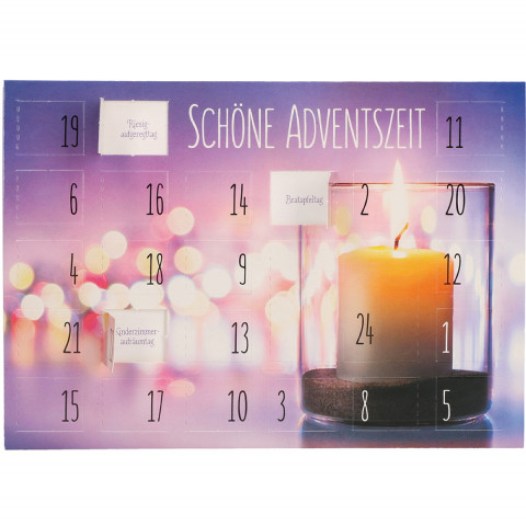 Adventskalenderkarte Schöne Adventszeit (6 Stück)