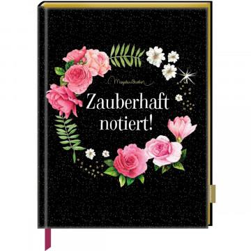 Notizbuch mit glitzerndem Stoffeinband - Zauberhaft notiert! (M. Bastin)