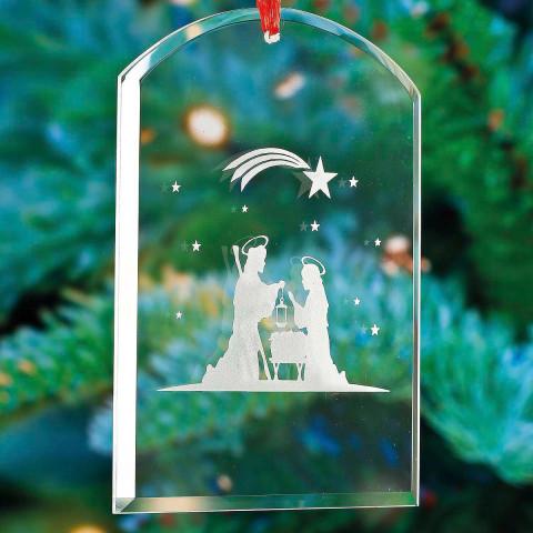 Kristallglasanhänger Weihnachten