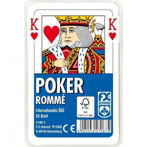Poker, Internationales Bild. FXS Traditionelle Spielkarten