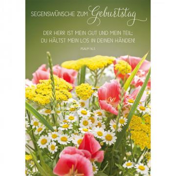 Postkarte Segenswünsche zum Geburtstag (10 Stück)