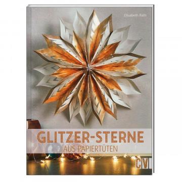 Glitzer-Sterne aus Papiertüten