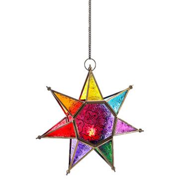 Bleiglasstern-Windlicht »Stern von Betlehem«