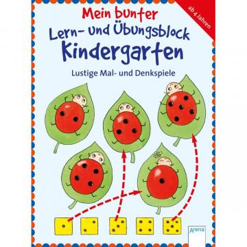 Mein bunter Lern- und Übungsblock Kindergarten. Lustige Mal- und Denkspiele