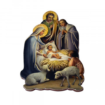 Magnet-Krippe »Heilige Familie & Hirtenjunge«