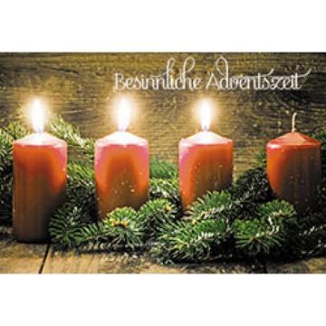 Glückwunschkarte Besinnliche Adventszeit (6 Stück)