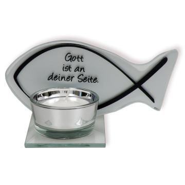 Teelichthalter »Gott ist an deiner Seite«