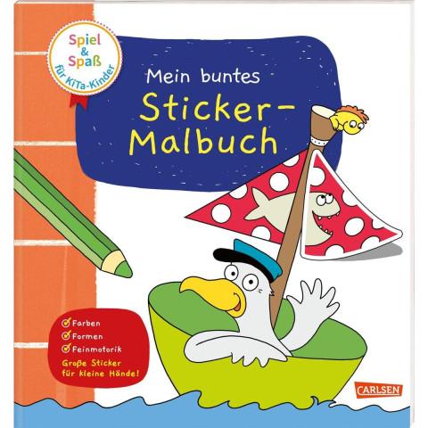Spiel+Spaß für KiTa-Kinder: Mein buntes Sticker-Malbuch