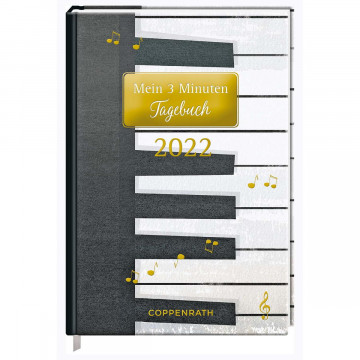 Mein 3 Minuten Tagebuch 2022 - Piano (All about music)