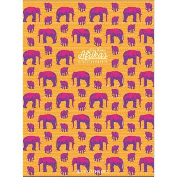 Tiere Afrikas Geschenkpapier-Heft - Motiv Elefant