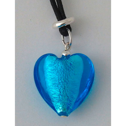 Kette mit Herz aus Muranoglas